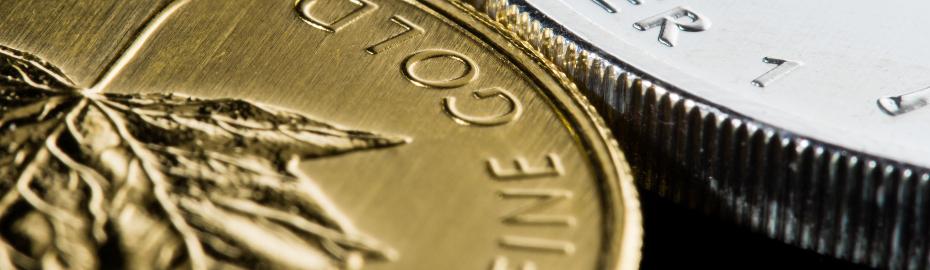 Gold- und Silbermünze